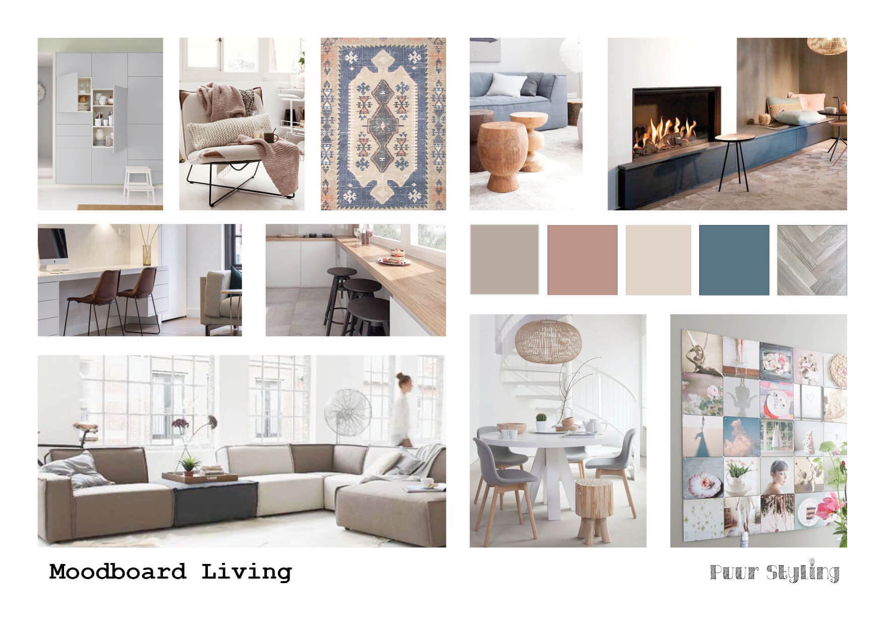 puur styling interieuradvies blauw moodboard