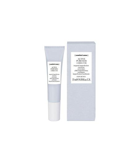product en verpakking active pureness corrector [comfort zone] 15ml-puurwellnessamersfoort