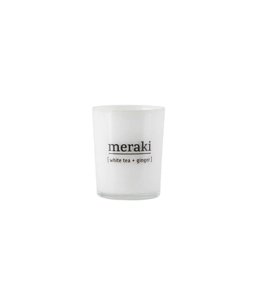 meraki scented candle white tea & ginger- puurwellnessamersfoort