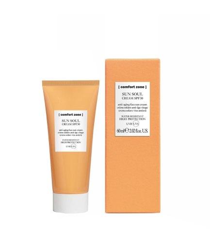 product en verpakking Sun Soul SPF30 Face cream [comfort zone] Puur Wellness Amersfoort