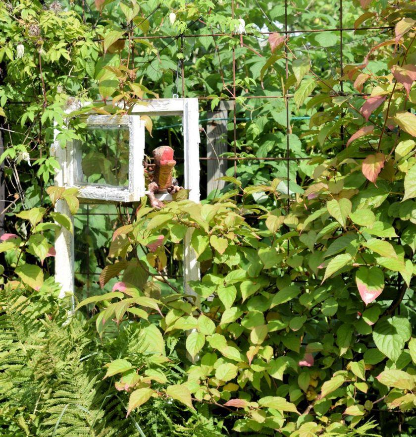 Hauskoja ideoita puutarhaan. Köynnösritilä raudoitusverkosta.