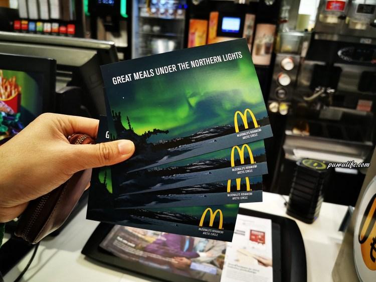 【芬蘭自由行】羅瓦涅米北極圈麥當勞,免費索取極光明信片!