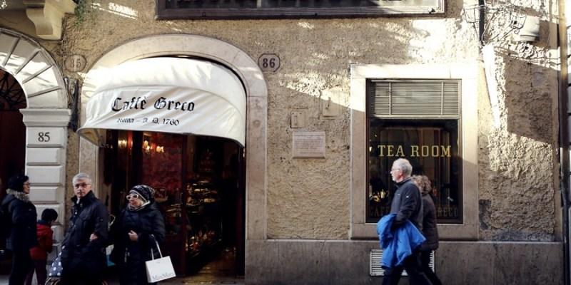 【義大利嘉年華】羅馬百年名店!老希臘咖啡館Antico Caffè Greco