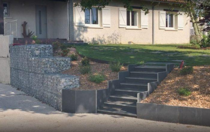 escalier ardoise