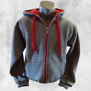 duks jakna tamno siva crvena