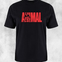 animal 1 crna majica crveni natpis