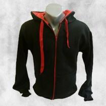 duks jakna crna crvena