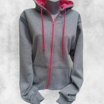zenska duks jakna tamno siva ciklama