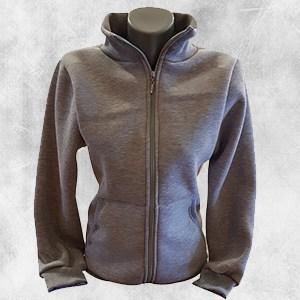 zenska duks jakna tamno siva kragna