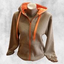 zenska duks jakna tamno siva narandza