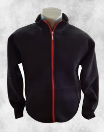 duks jakna crna crvena kragna