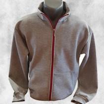 Duks jakna siva sa crvenim