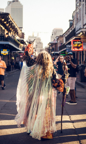 Spiritual Speaker in the streets of New Orleans, Louisiana