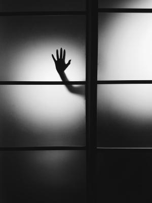 Silhouette Behind the Door