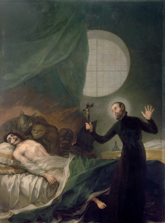 St. Francis of Borgia Exorcising a Demon