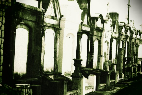 Lafayette Cemetery 2 Puzzle Box Horror images row of graves green tint