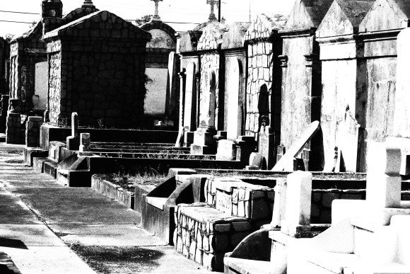 Lafayette Cemetery 2 Puzzle Box Horror images row of tombs black and white