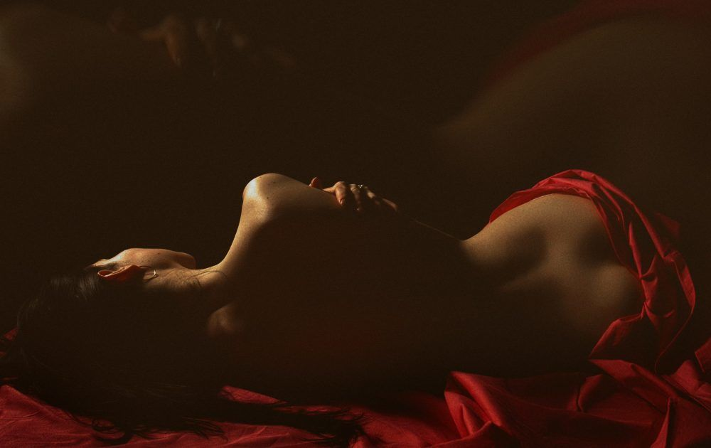 The silhouette of a woman in bed, Succubus