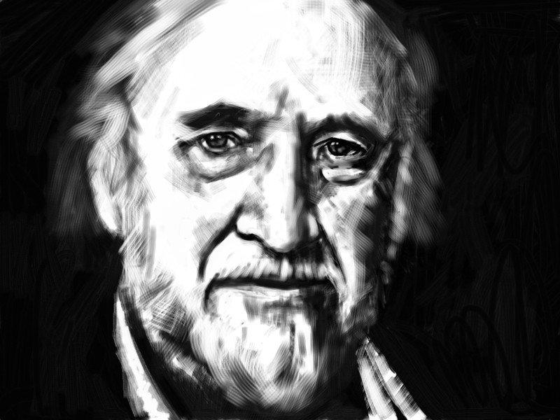 Richard Matheson Artistic Portrait