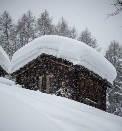 Snowed in Cabin