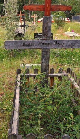 Gwich'in Elder Grave at Birch Hill Cemetery