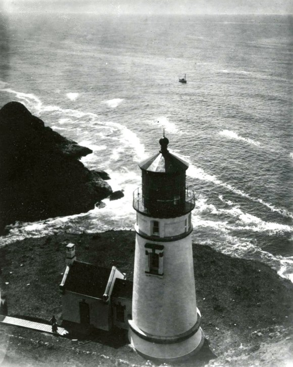 1931 image of Heceta Head Lighthouse - Florence, Oregon