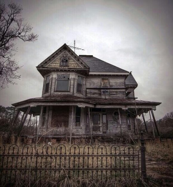 spooky old haunted house