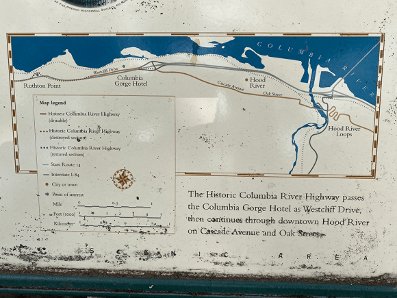 Scenic Map of The Columbia River