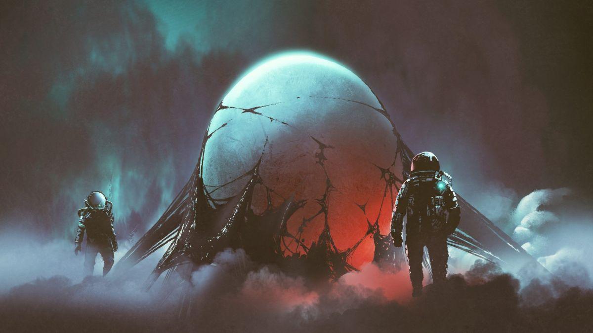 sci-fi horror scene