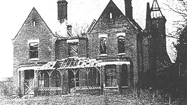 Borely Rectory After the Fire