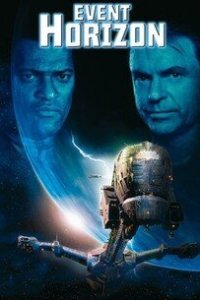 Event Horizon sci-fi horror movie poster with space ship and planet