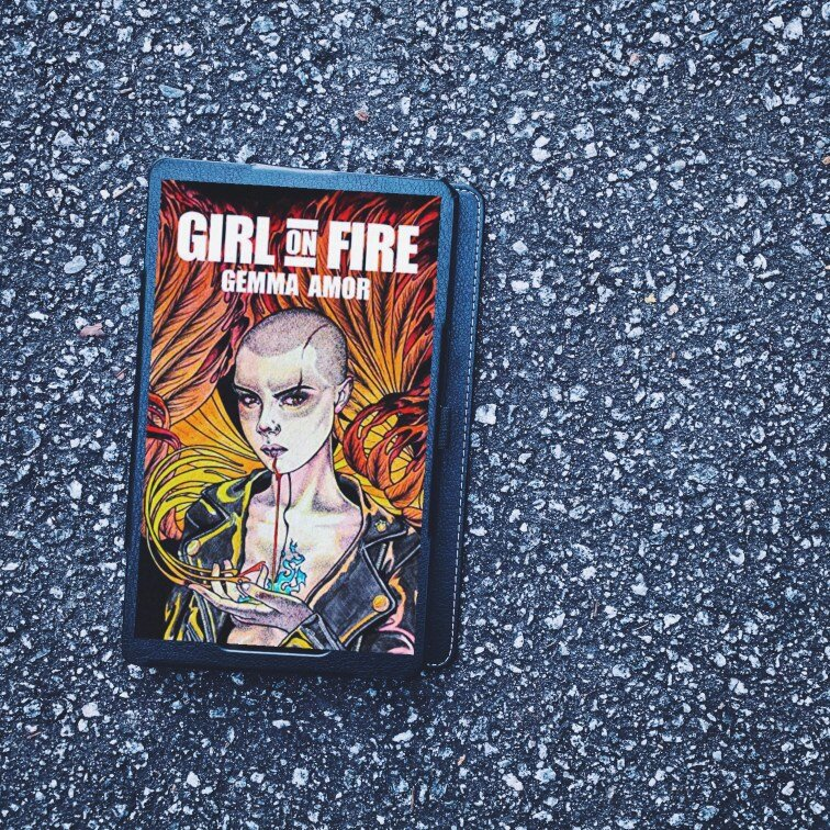 Girl on Fire horror book cover by Gemma Amor
