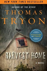 Harvest Home book cover with house in a storm