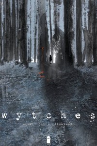 Wytches book cover with creepy dark forest