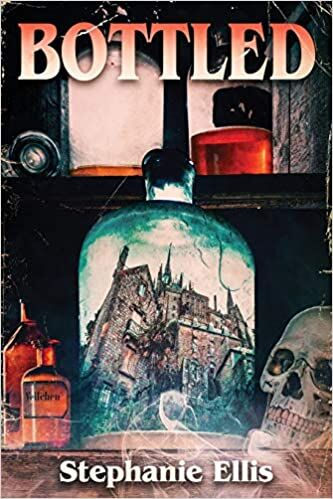 Bottled book cover with house in a jar
