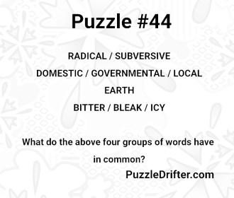 Puzzle #44: Sick Days