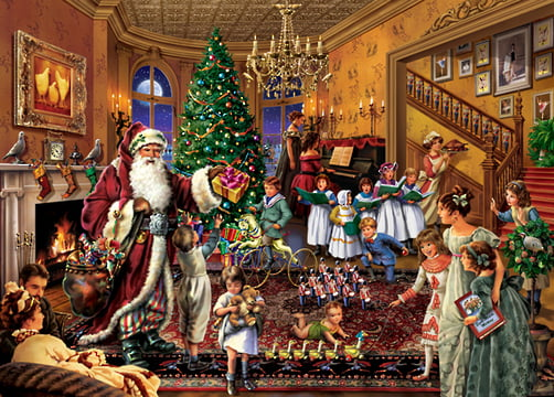 Upstairs Downstairs Christmas In The Parlour Jigsaw Puzzle