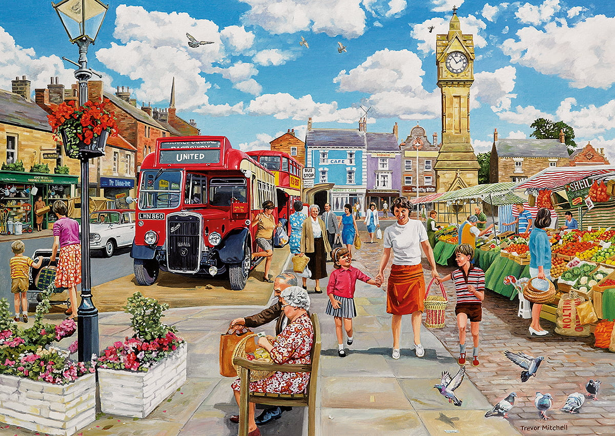 A TRIP TO THE SHOPS 4 X 500 PIECE GIBSONS JIGSAW PUZZLE