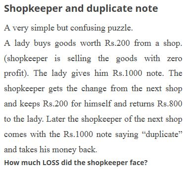 shopkeeper and duplicate note