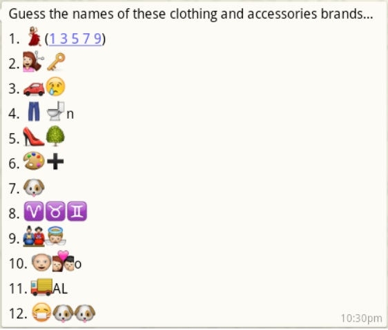 guess the name of clothing and accessories brands
