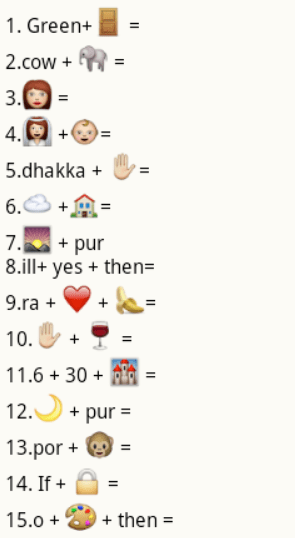 guess the city names from whatsapp emoticons puzzle