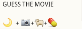guess the movie name from whatsapp emoticons