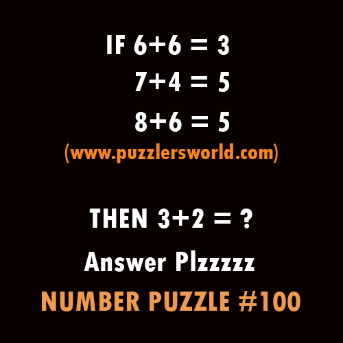 Number Puzzle 100 , If 6+6 =3