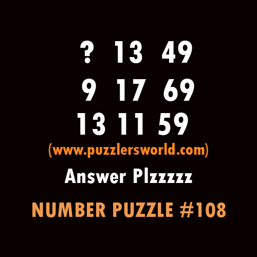 Number puzzle 108