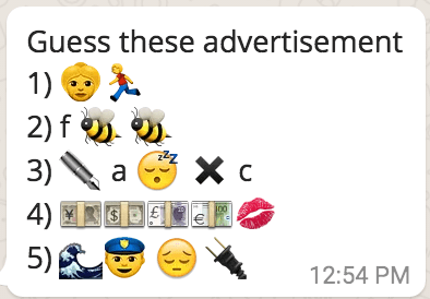 guess these advertisements from whatsapp emoticons