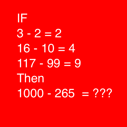 1000 - 265 = ?
