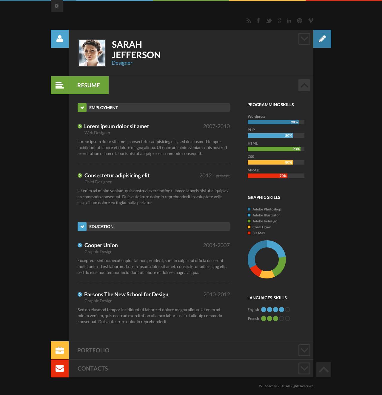 resume portfolios innovative graphic design resume cv and
