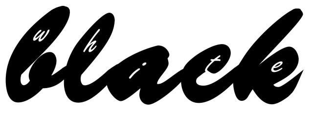 Black White Ambigram