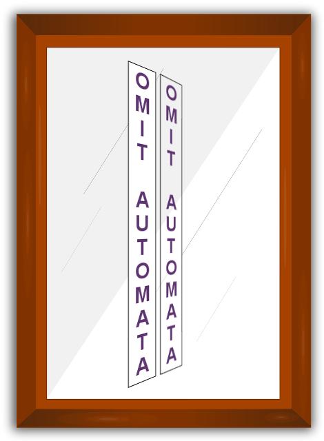 Vertical Mirror Image Message