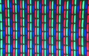 Television screen close up